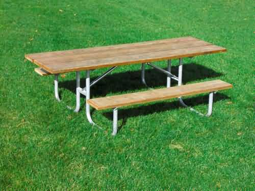 Double Sided Wheelchair Accessible Picnic Tables At BuiltRite - Ready to assemble picnic table
