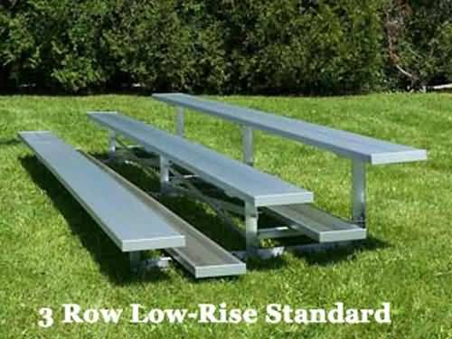 BRB-0321ALRS 3-Row , 21' , Single Foot plank, Low Rise Bleacher