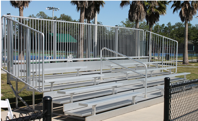 Deluxe Bleachers with Vertical Picket Guard