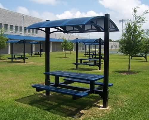 canopy table at builtrite bleachers