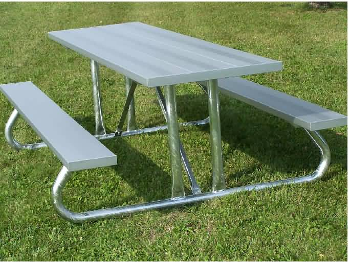 Outdoor Aluminum Picnic Table At BuiltRiteBleachers.com
