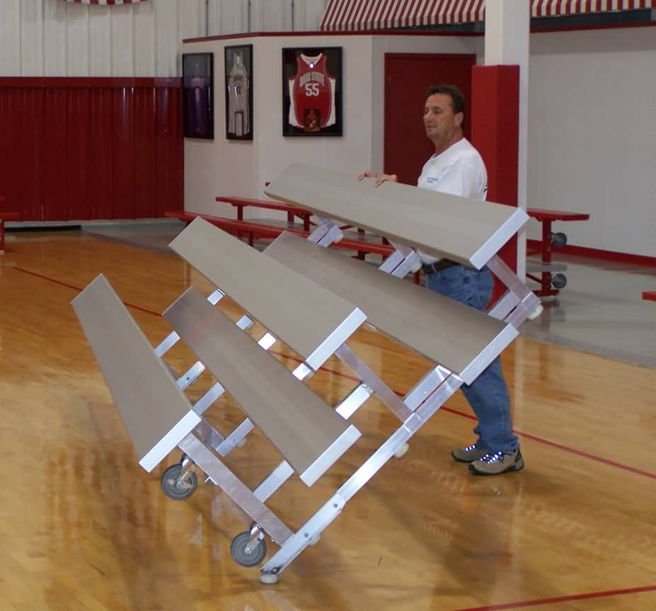 Portable Indoor Bleachers For Sale At Builtrite Bleachers