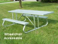 Wheelchair Accessable Picnic Table photo