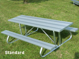 standard aluminum picnic table photo