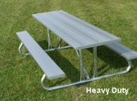 Heavy Duty aluminum Picnic table photo