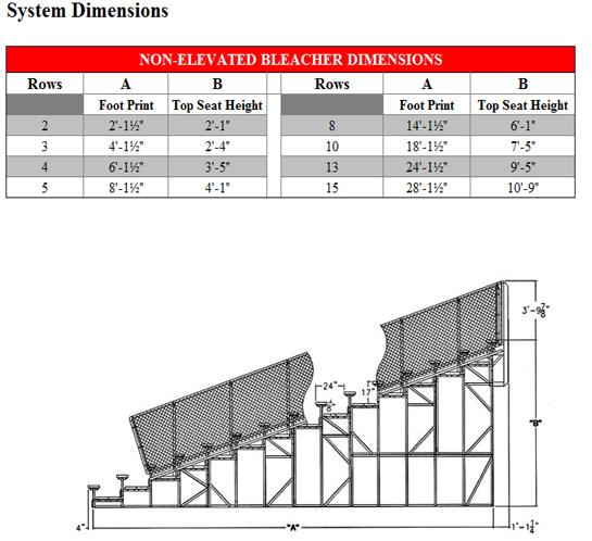 Bleacher Sizes Pictures To Pin On Pinterest Pinsdaddy