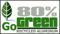 We use recycled aluminum for our bleachers, benches and picnic tables.