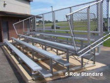 5 row standard bleachers